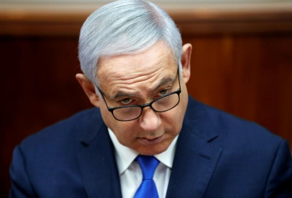 Photo d\'archives du Premier ministre israélien Benjamin Netanyahu lors d\'une réunion du gouvernement, à Jérusalem le 3 mars 2019