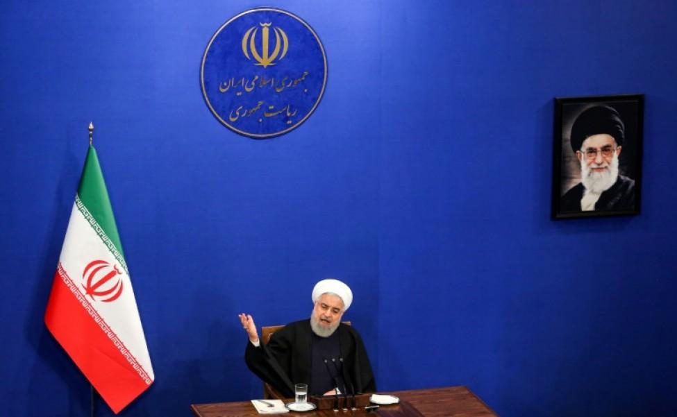 Le président iranien Hassan Rohani lors d\'une conférence de presse à Téhéran, le 16 février 2020
