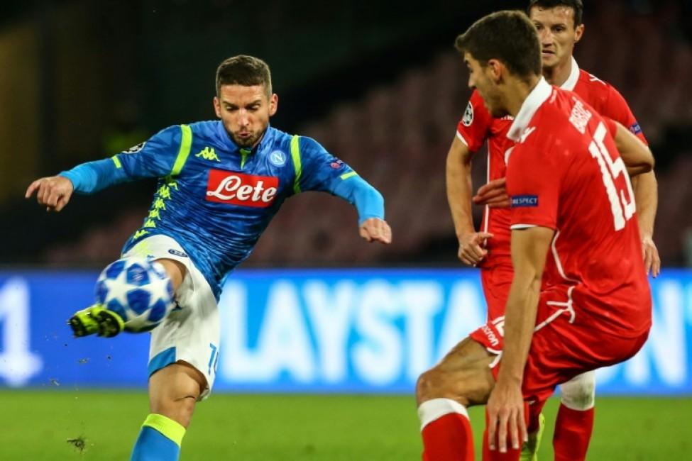 Mertens Hamsik Put Napoli Closer To Champions League Last 16