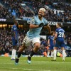 Manchester City\'s Sergio Aguero scored a hat-trick in a 6-0 thrashing of Chelsea on Sunday