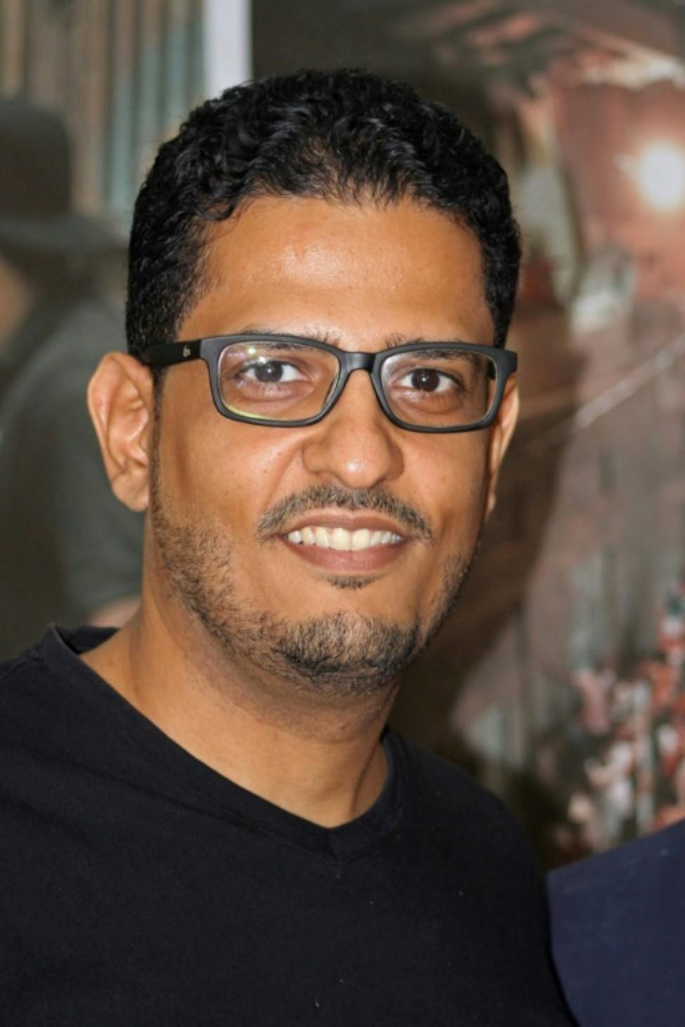 Le cinéaste yéménite Amr Gamal après la diffusion de son film \