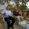 Bassam et Issa Tlaib, oncles de Rashida Tlaib, première élue américano-palestinienne au Congrès américain, accueillant des voisins venus le 8 novembre 2018 les féliciter dans leur village de Beit Our al-Foqa, en Cisjordanie occupée