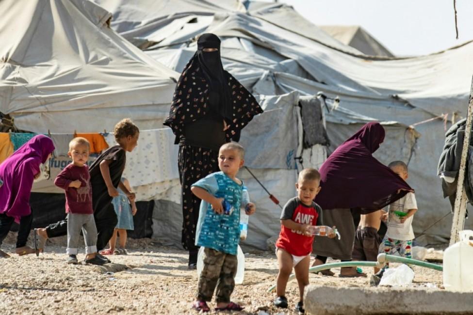 Enfants de jihadistes dans le camp kurde d\'Al-Hol, en Syrie, le 17 octobre 2019