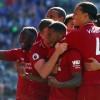 Georginio Wijnaldum (centre) put Liverpool on course for a vital win at Cardiff