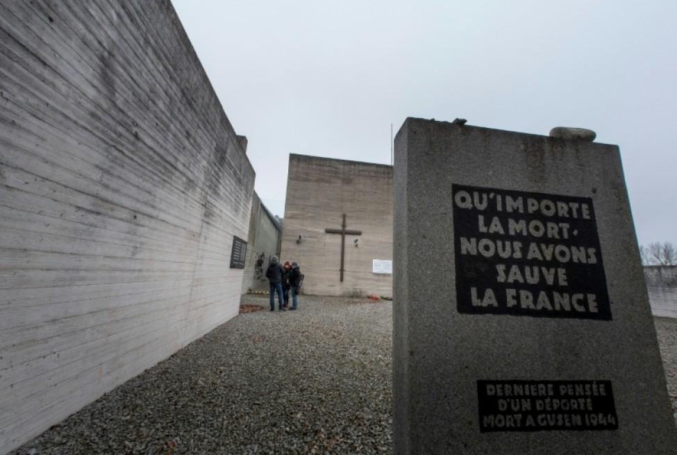 Le mémorial de l\'ancien camp nazi de Gusen, le 8 janvier 2020 à Langenstein, en Autriche
