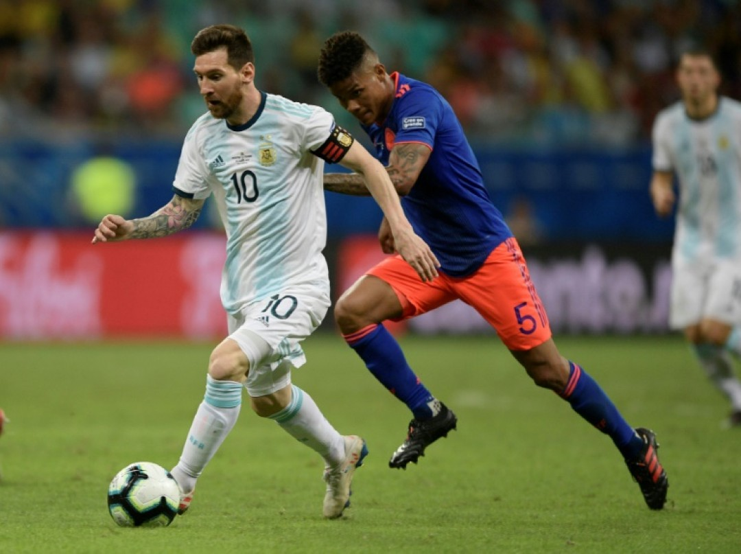 Wilmar Barrios (right) shadowed Argentina\'s superstar Lionel Messi throughout the match, never giving him time on the ball