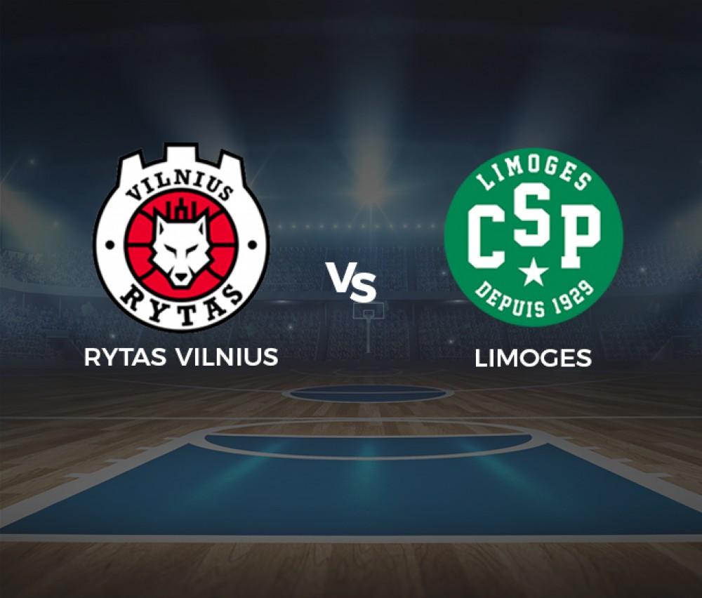 Basket-ball - Eurocoupe masculine - Rytas Vilnius (Ltu) / Limoges (Fra) [Live]