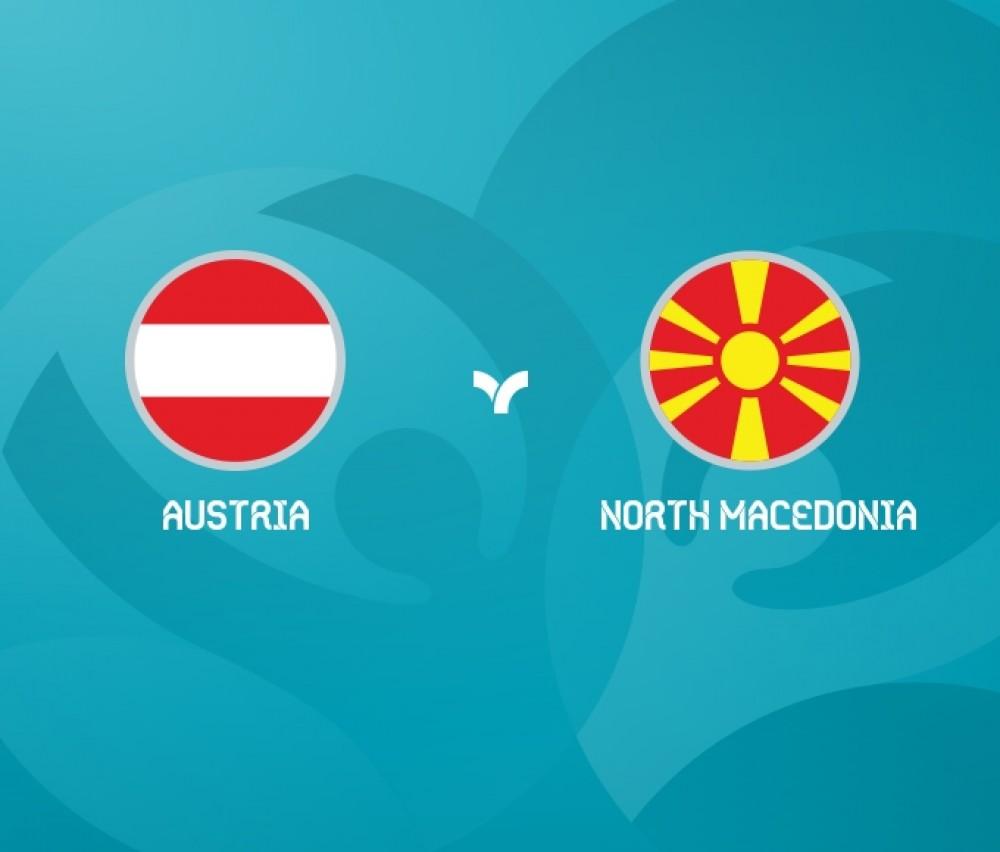 football - UEFA EURO 2020 - MD1 Group C Austria vs North Macedonia(Live)